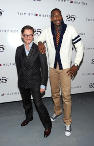 Amar'e & Tommy Hilfiger. Spring 2011 fashion show at New York's Lincoln Center during Fashion Week