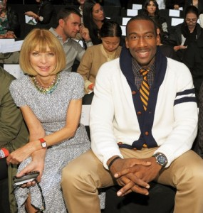 Amar'e with Vogue Editor Anna Wintour