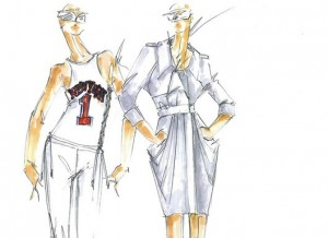 Sketches for the Amar'e-Rachel Roy Collection