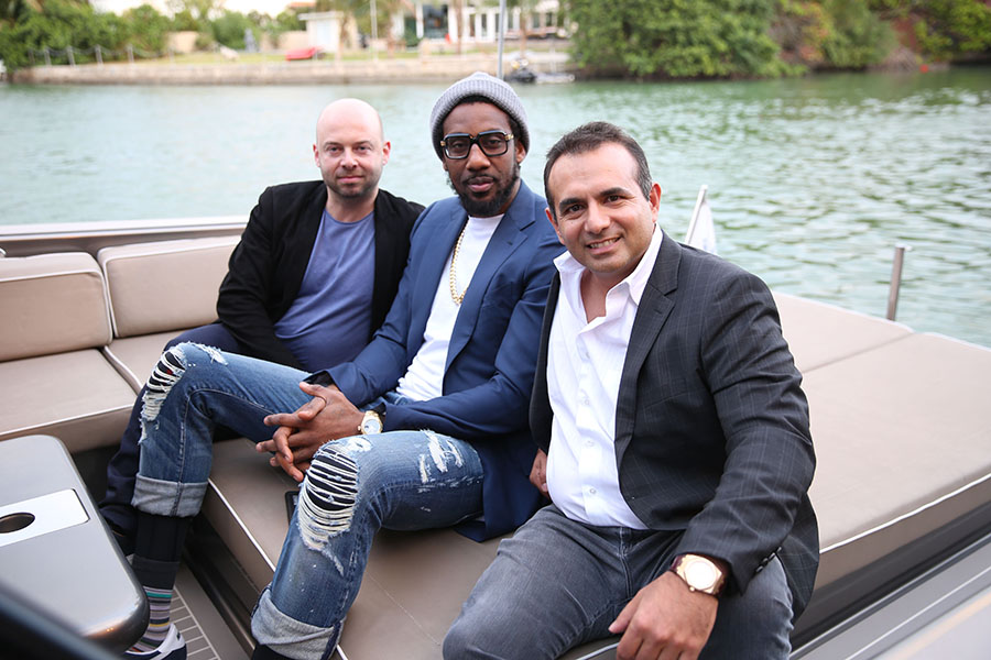 Pictured: Michael Klug, Amar'e Stoudemire, & Ophir Sternberg Photo Credit : Loamis, World Red Eye