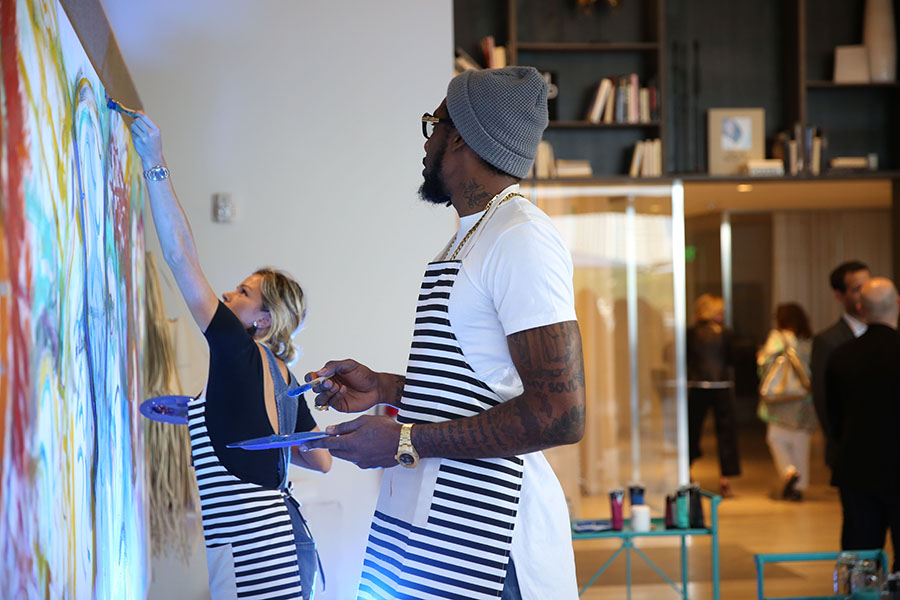 Pictured: Amar'e Stoudemire & Tatiana Blanco (Artist) Photo Credit : Loamis, World Red Eye