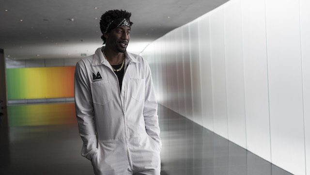 JERUSALEM, ISRAEL - AUGUST 09:  Amar'e Stoudemire a former NBA player walking during a visit in Israel Museum on August 9, 2016 in Jerusalem, Israel. Amar'e joined Israeli team Hapoel Jerusalem  (Photo by Ilia Yefimovich/Getty Images)